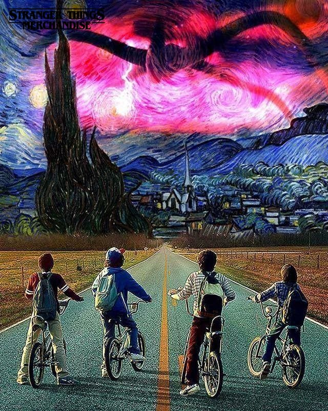 Stranger Things Poster <br> Starry Night
