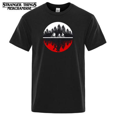 Stranger Things Upside Down Road T-shirt