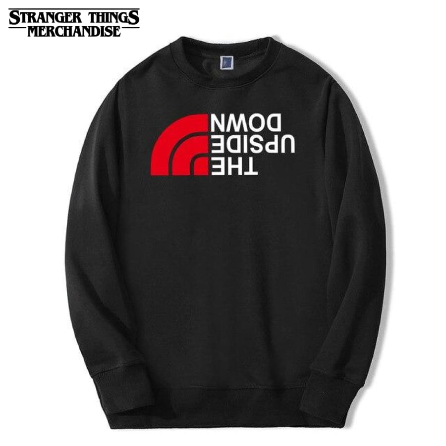 Stranger Things Sweatshirt <br>The Upside Down (North Face Parody)