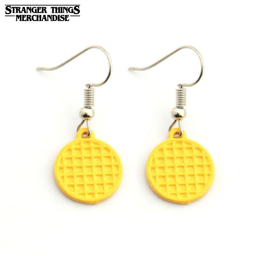 Stranger Things Earrings <br>Waffle