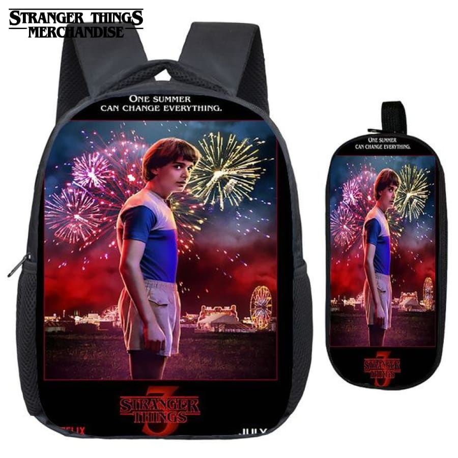 Stranger Things Backpack for School (FREE Pencil Case) <br> Will Byers