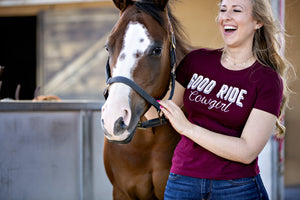 """Good Ride Cowgirl"" Boyfriend Tee"
