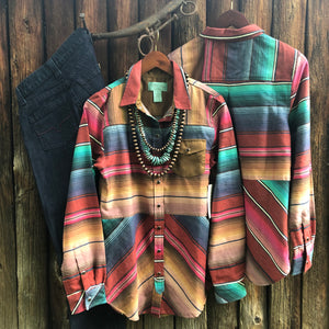 Serape Rodeo Shirt by Tasha Polizzi