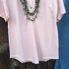 Load image into Gallery viewer, Grandby Blush Button Front Tee