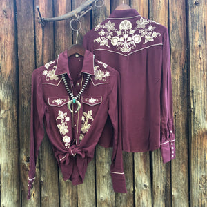 Annie Embroidered Vintage Western Top