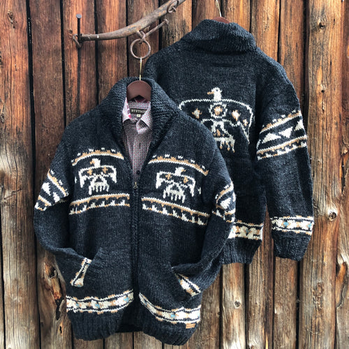 Eagle Knit Sweater Jacket {Men's}