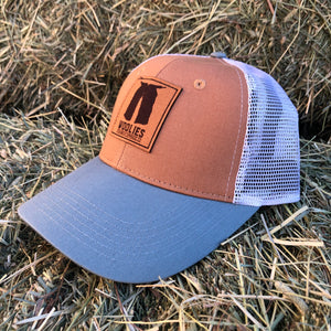 Woolies Tan & Gray Cap