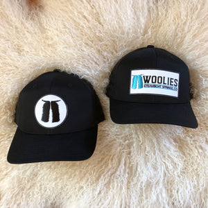 Woolies Black Patch Hats