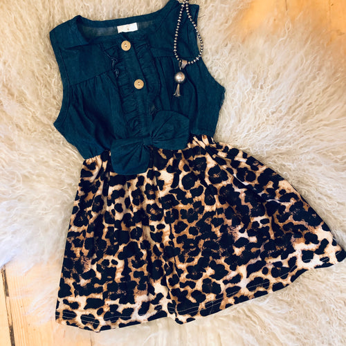Leopard Little Girls Dress