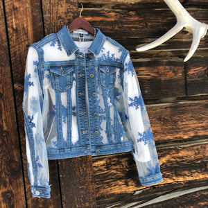 Malibu Denim Lace Jacket
