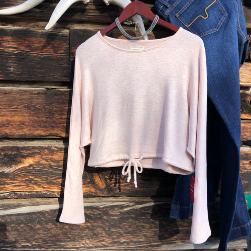 Moab Cropped Crew Sweater by Kimes Ranch
