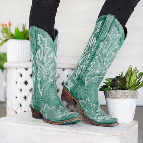 Lane Saratoga Boot in Turquoise - Rural Haze