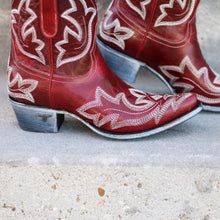 Load image into Gallery viewer, Lane Saratoga Bootie in Cherry Red - Rural Haze