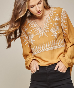 Marigold Embroidered Blouse