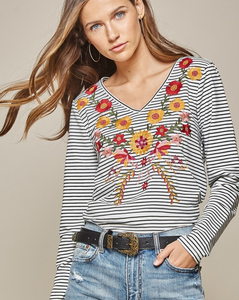 Santaquin Embroidered Top