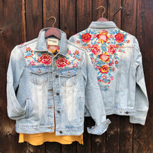 Load image into Gallery viewer, Aurora Embroidered Denim Jacket