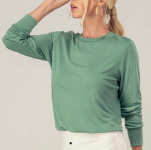 Load image into Gallery viewer, Adair Long Sleeve Bodysuit {Sage Green}