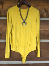 Load image into Gallery viewer, Adair Long Sleeve Bodysuit {Mustard}