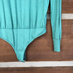 Adair Long Sleeve Bodysuit {Sage Green}