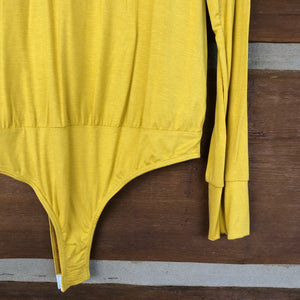 Adair Long Sleeve Bodysuit {Mustard}