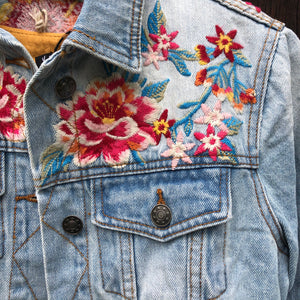 Aurora Embroidered Denim Jacket