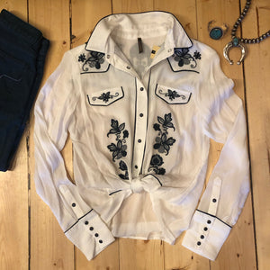 Oakley Embroidered Vintage Western Top