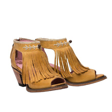 Load image into Gallery viewer, Junk Gypsy Archer Open Toed Booties in Mustard - Rural Haze