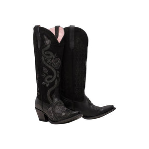 Junk Gypsy Charmer Boot in Soft Black Suede/Jet Black