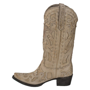 Lane Robin Wide Width Boots in Bone - Rural Haze