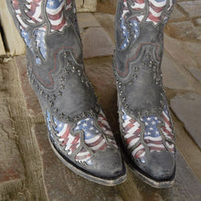 Load image into Gallery viewer, Lane Old Glory Boots in Stonewash Black - Rural Haze