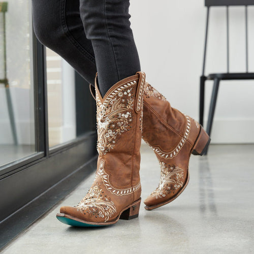 Lane Chloe Boot in Burnt Caramel - Rural Haze