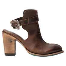 Load image into Gallery viewer, Lane Hailey Halfsie Booties in Cognac - Rural Haze