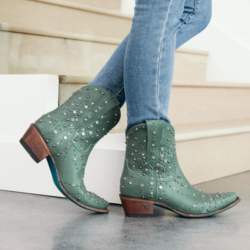 Lane Sparks Fly Bootie in Turquoise