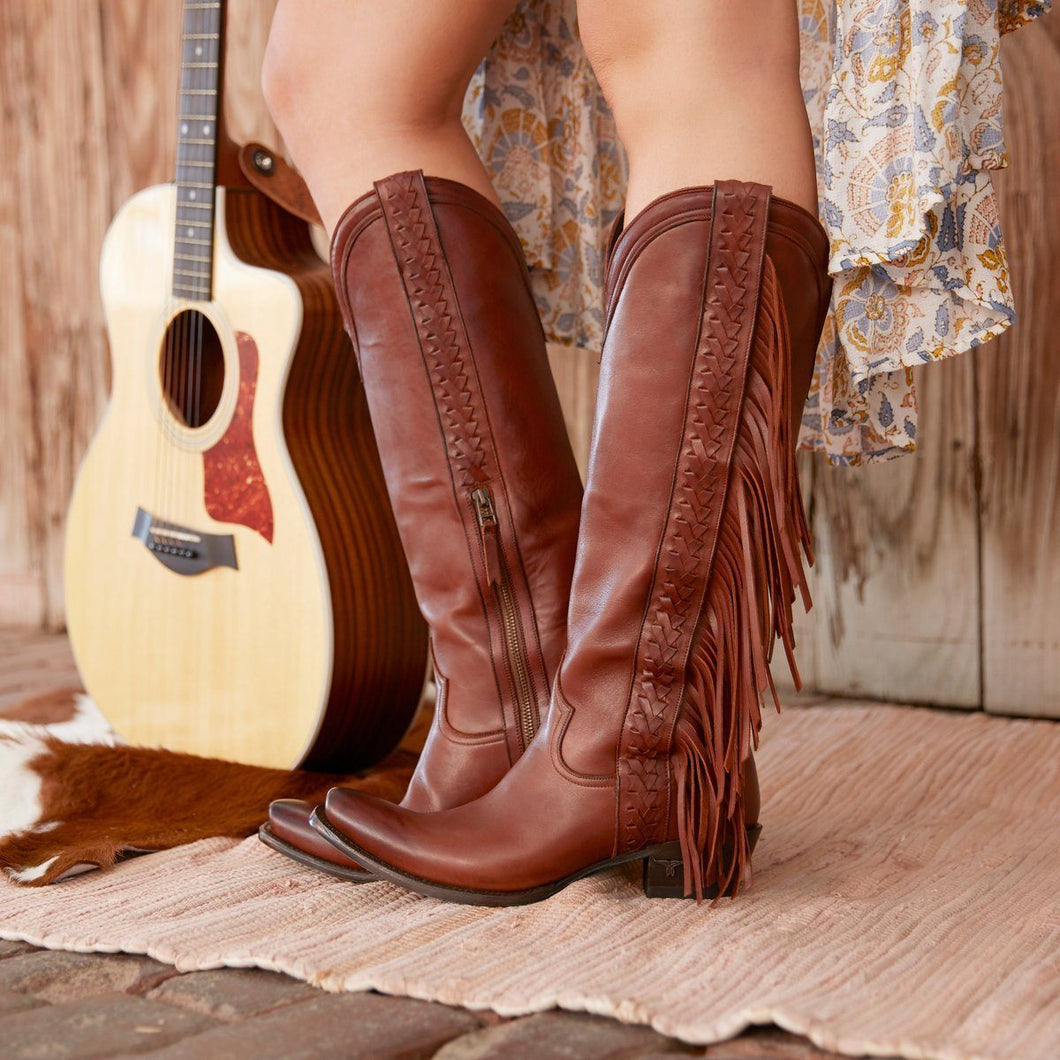 Lane Katori Removable Fringe Boots in Dark Brown - Rural Haze