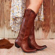 Load image into Gallery viewer, Lane Katori Removable Fringe Boots in Dark Brown - Rural Haze