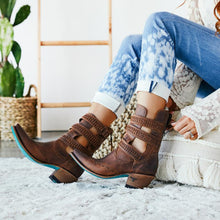 Load image into Gallery viewer, Lane Mesilla Ankle Boot in Burnt Caramel - Rural Haze