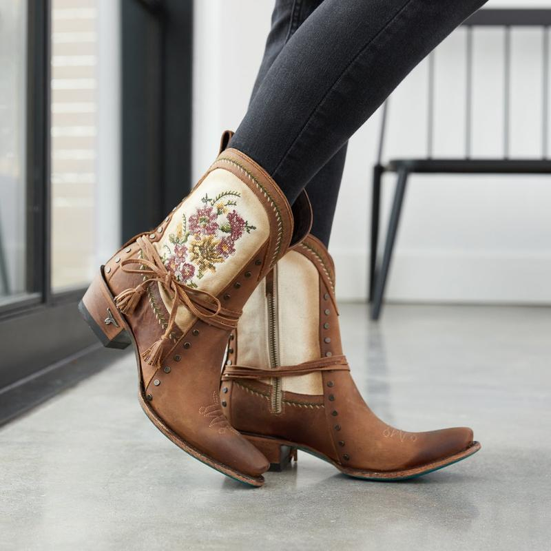 Lane Prairie Point Bootie in Burnt Carmel - Rural Haze