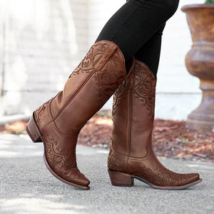 Lane Lilly Boot in Deep Brandy