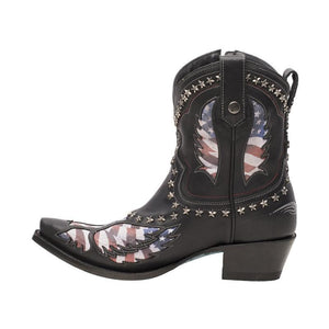 Lane Old Glory Bootie in Black