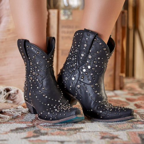 Lane Sparks Fly Booties in Black - Rural Haze