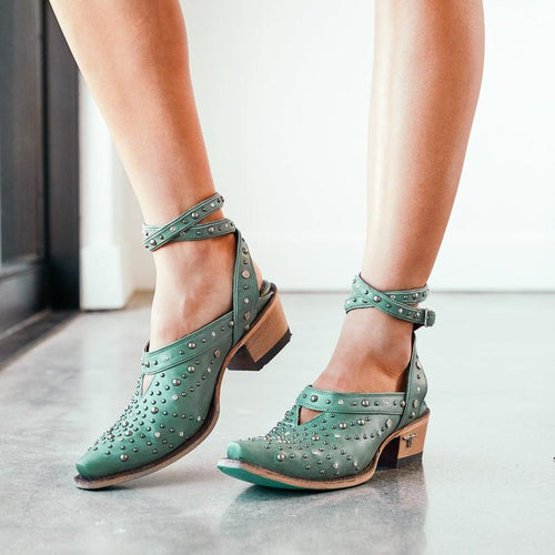 Lane Sparks Fly Mule in Deep Turquoise - Rural Haze