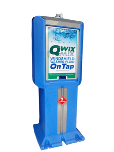 Qwix Mix Water-Driven Windshield Washer Fluid Proportioner With 80 Gallon Reservoir. Used For Automatically Making and Storing Windshield Washer Fluid