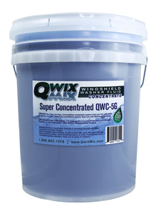 Qwix Mix 5 Gallon Pail of Biodegradable Windshield Washer Fluid Concentrate. Used for Qwix Mix Proportioners