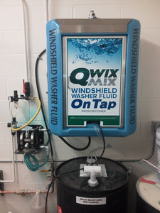 Installed Qwix Mix Water-Driven Windshield Washer Fluid Proportioner. Used For Automatically Making Windshield Washer Fluid