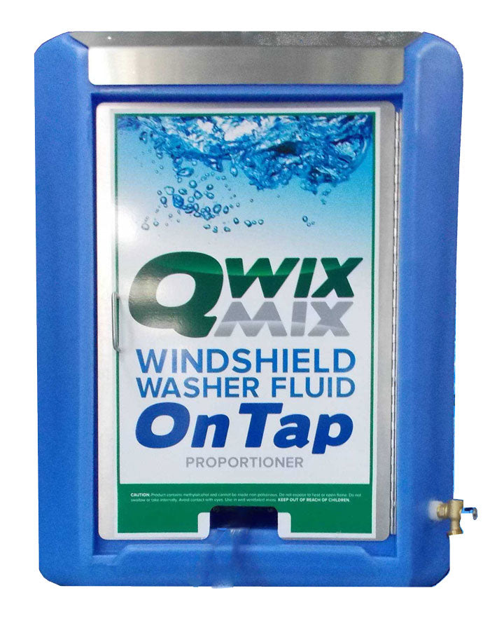 Qwix Mix Windshield Washer Fluid Proportioner With 40 Gallon Reservoir. Used For Automatically Making And Storing Windshield Washer Fluid