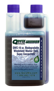 QWC-16 oz. Qwix Mix Biodegradable Windshield Washer Fluid Concentrate