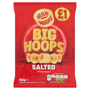 Hula Hoops Big Hoops Salted 80g