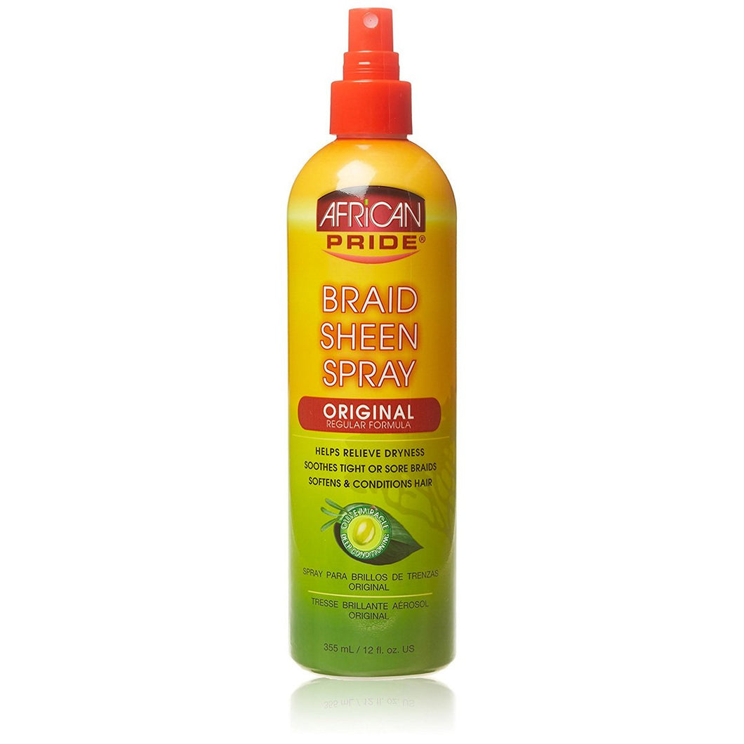 African Pride Braid Sheen Spray Original 355ml