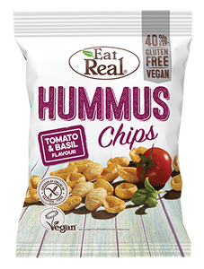 Eat Real Hummus Chips Tomato & Basil Flavour 45g