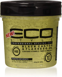 Eco Styler Gel Black Castor & Flaxseed Oil 473ml